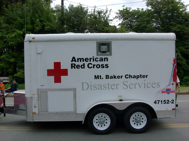 Share an emergency response trailer with Red Cross